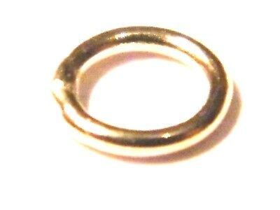 9ct Yellow Gold 5.0mm 2 Hole Flat Hollow Bead-Spacer for Beading Project .375