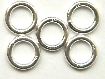 8mm Strong Silver Jump Ring Extra Heavy! for Albert Chain-T-Bar /& Swivel Clasps