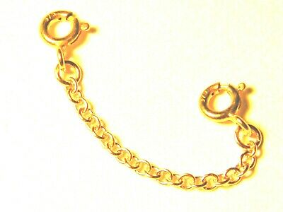 9ct Yellow Gold Necklet Safety //Extension Chain-w//Bolt Ring-Bracelet-Necklace