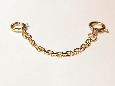 18ct Yellow Gold Safety Extension Chain 4 Bracelet- Necklace Extender