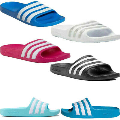 Adidas Boys Slides Girls Kids Adilette Aqua Sliders Flip Flops Sandals Shoes