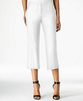 BAR III Womens Washed White Culotte Pants Trousers Cropped Length NWT