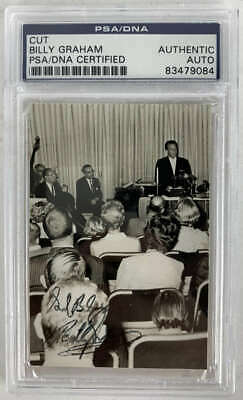 Billy Graham Signed Autographed 2.5x3.5 Photograph PSA/DNA
