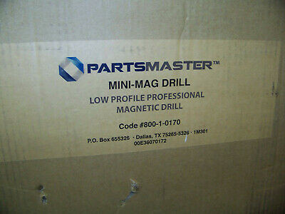 Partsmaster Mini-Mag Magnetic Drill Low Profile Professional w/ Case 800-1-0170