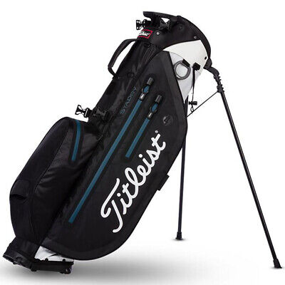 New In Stock Titleist 2019 Players 4 StaDry Stand Bag (Black/White)