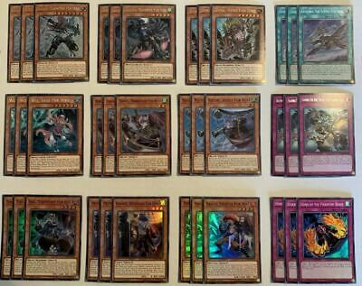 Yugioh Fur Hire Deck Core 36 Secret/Super Rare Cards 1St Edition