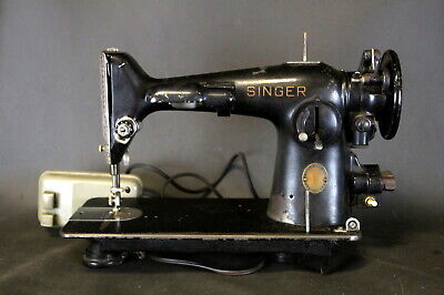 1941 SINGER 201-2 GEAR DRIVE  SEWING MACHINE w/ Pedal