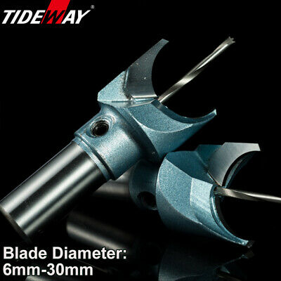 """1/2"""" 10mm Shank Bottom Cleaning Carbide Tipped Router Cutter Bit TCT. Every Size"""