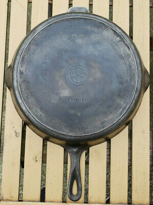 Vtg Griswold 12 Cast Iron Skillet 719 D Small Block Logo Erie Antique Pan HTF PA