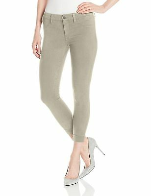 J Brand Luxe Sateen Anja BIscuit Cuffed Cropped SKINNY Jeans Pants Size 31