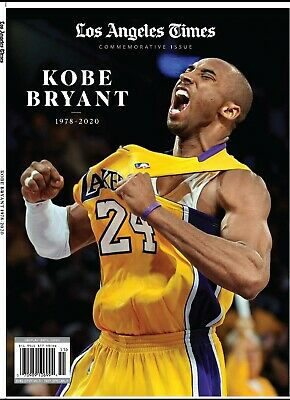 Kobe Bryant Los Angeles Times Commemorative Issue Magazine 1978 - 2020 Brand New