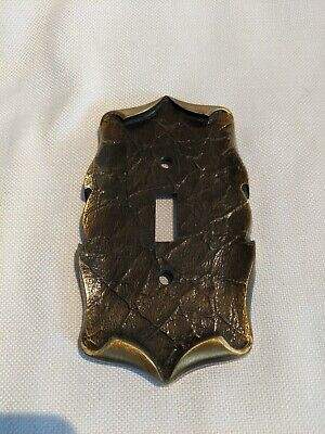 Vintage Metal Amerock Light Switch Plate Cover SA Single Ornate