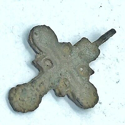 Late Or Post Medieval Byzantine Cross Artifact European Russian Orthodox Pendant