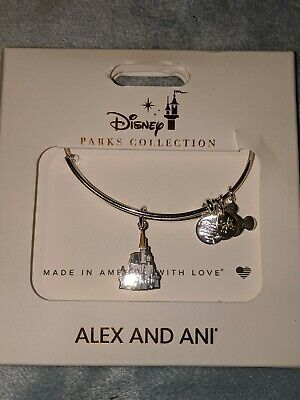 Disney Parks Alex and Ani Cinderella Castle 2020 Charm Bracelet Silver New