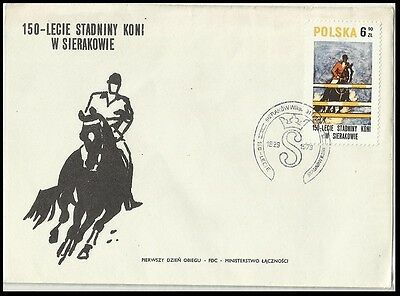 Horse,dressage,Sports,Poland 1980 FDC,Cover