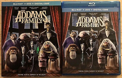 The Addams Family Animated Blu Ray + Dvd With Slipcover Free World Wide Shipping
