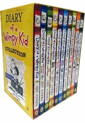Diary of a Wimpy Kid Collection 10 Books Box Set (Yellow Box) PB NEW