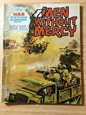 "Fleetway War Picture Library Comic # 838 From 1973. ""Men Without Mercy"""