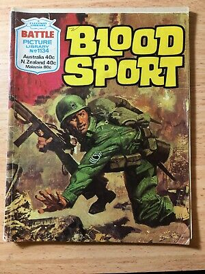 "Fleetway Battle Picture Library Comic # 1134 From 1977. ""Blood Sport"""