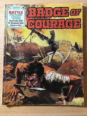 "Fleetway Battle Picture Library Comic # 1133 From 1977. ""Badge of Courage"""