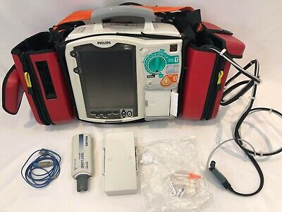 PHILIPS MRx Monitor 12 Lead QCPR ECG SpO2 NIBP CO2 Temp IBP AED