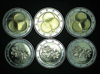 2019 FINLANDE 2 euro NORMAL 3 pieces+ COMMEMORATIVE 3 pieces