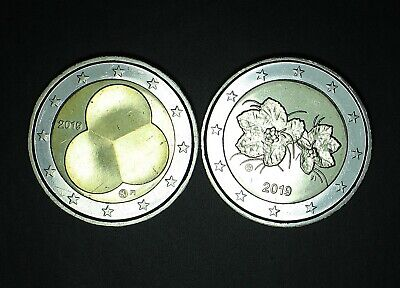 2019 FINLANDE FINLANDIA 2 euro NORMAL x1 + 2019 COMMEMORATIVE x1