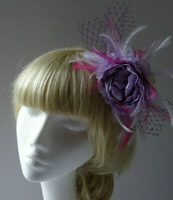 Lilac rose fascinator on comb/wedding/mother of the bride/races