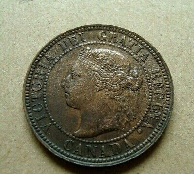 1896 Canada One Cent Coin Victoria