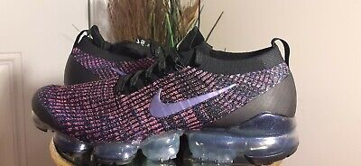 Nike Air Vapormax Flyknit 3 Men's Shoe [Size 10.5] Black/Fuchsia/Blue Aj6900-007