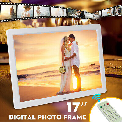 17'' Digital Photo Frame Picture HD 1080P LED MP4 Player Tabletop Hanging AU
