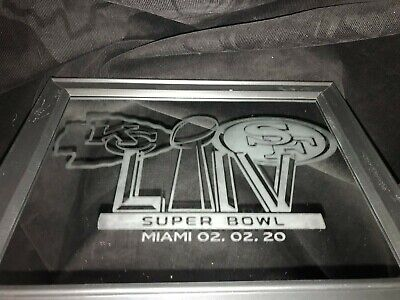 2020 Superbowl 54 Kansas City Chiefs San Francisco 49Ers Etched Mirror 8X10