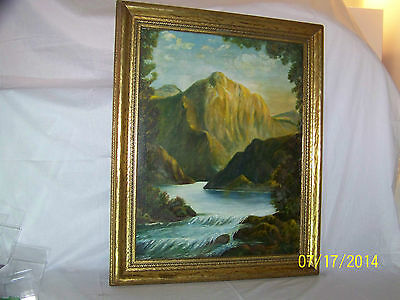 Leo Goode Pennsylvania Listed Artist Original Oil On Canvas Landscape Painting