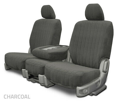 CHEVY SILVERADO 2003-06 BLACK//CHARCOAL VINYL CUSTOM MADE FRONT SEAT /& 2ARM COVER