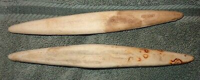 2 VINTAGE GERMANY BOVINE BONE IVORY book binding tool? Not sure WHAT ARE THEY?