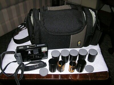 MINOLTA FREEDOM III 35MM AUTO FOCUS CAMERA BUNDLE w/BAG w/7 ROLLS KODAK 400 FILM