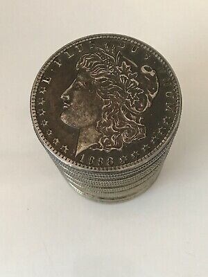Vintage Cast Bank Stacked Coins Looks Like 1883 Morgan Silver Dollar