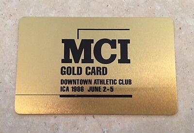 Vintage 1986 MCI Gold Card Downtown Athletic Club ICA (Metal)