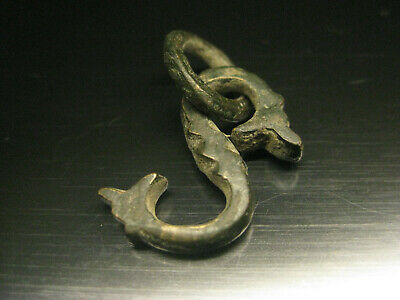 """an authentic Bronze Roman """"S""""-4.97g  length-28mm ,almost 1 inch"""