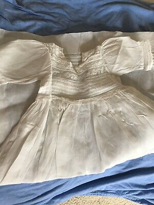 antique French baby christening gown