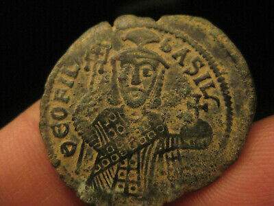 authentic Byzantine bronze coin TEOFILUS - 9.25g --29mm