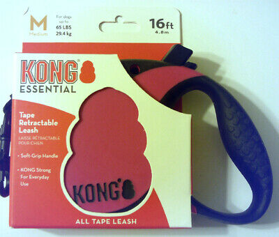 Kong Essential Tape Retractable Leash 16Ft For Dogs Up To 65Lbs Size M Fandango