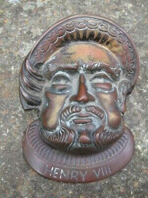 Vintage Henry Viii Novelty Door Knocker.brass.large Size.henry The Eighth.bel.
