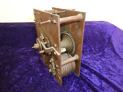 #1 Antique/Vintage Fusee Clock Movement Only Spares/Repair