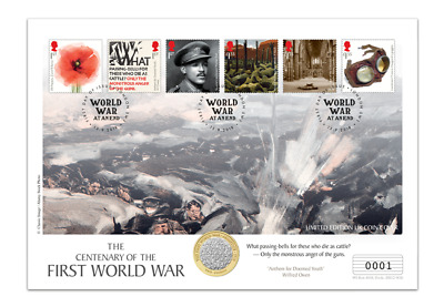 2018  WW1 Great War 1918 Armistice BUNC £2 Two Pound Coin Cover 1000 Issued