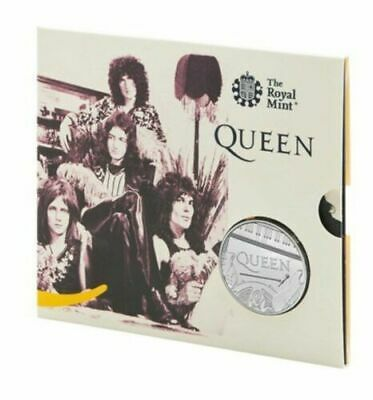 2020 Royal Mint Music Band Legend QUEEN £5 FIVE POUND Coin BU Sealed Pack.