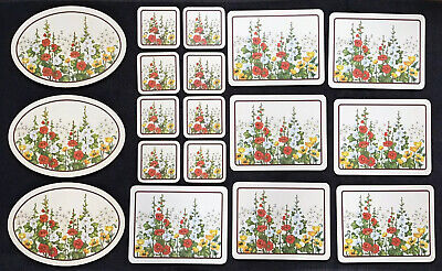 Vintage Placemats Coasters Casserole Stands Rare Gladioli St Michael