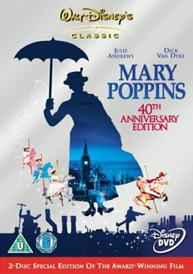 Mary Poppins - 40th Anniversary Edition - U.K. Region 2 DVD - Walt Disney
