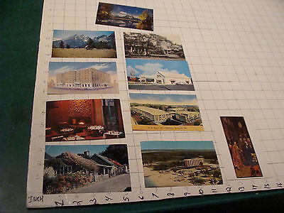 Postcards lot of 10 random, 3 used, other not, as shown.