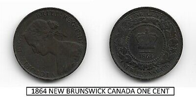 Canada Bronze Coin - Km-6 1864 One Cent - New Brunswick